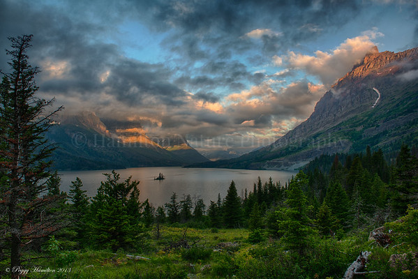 Glacier National Park - St. Marys Lake at Sunrise