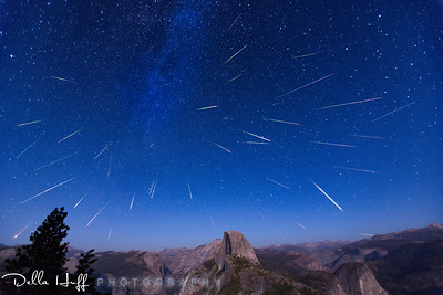 Perseid Meteor Shower from Glacier Point, Yosemite National Park