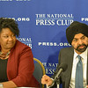 Valecia Maclin and Ajay Banga