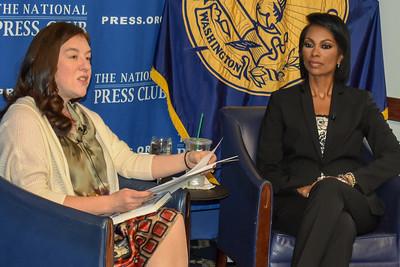NPC president Andrea Edney and Harris Faulkner