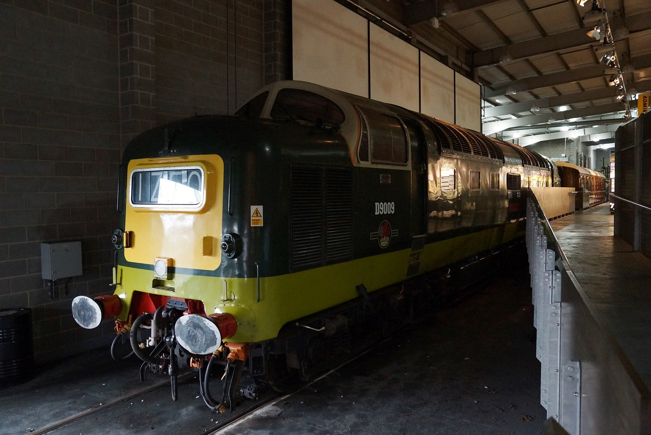 BR D9009 (55009) 'Alycidon' EE Co-CoDE 10,10,2015 (From Barrow Hill Roundhouse)