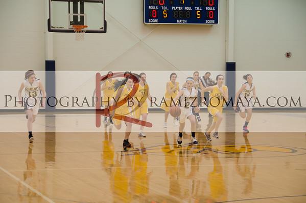 Shrine 8th Grade Girls Basketball 2-9-13