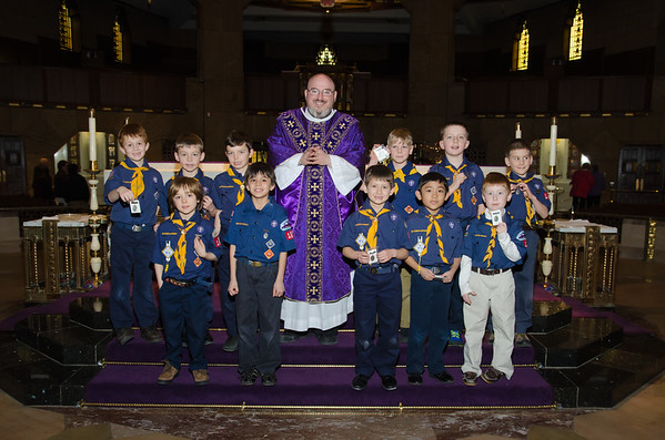 Shrine Catholic Cub Scout Event 3-2013
