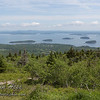 Bar Harbor, Frenchman Bay, Bar Island and the Porcupine Islands viewed from Cadillac Mountain