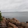 Looking out from the Bass Harbor Head Lighthouse.