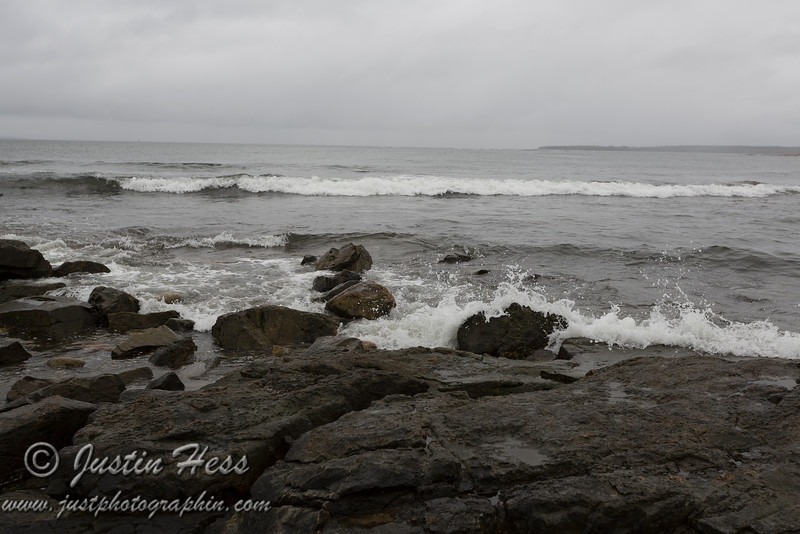 """Along the shore.  At this point we were saying - """"it's just another shade of grey."""""""