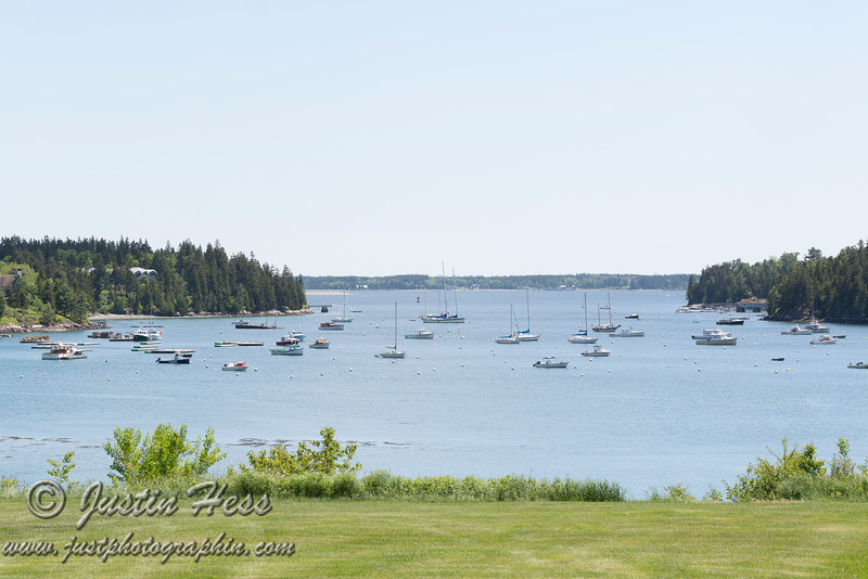 Northeast Harbor from the lawn of the Asticou Inn