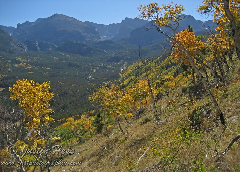 Fall color on Bierstadt Moraine.