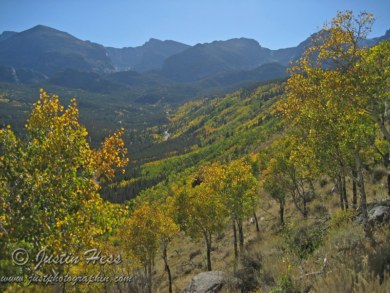 Fall color on Bierstadt Moraine.