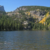 Hallett Peak and Fall Color - viewed from Bear Lake.