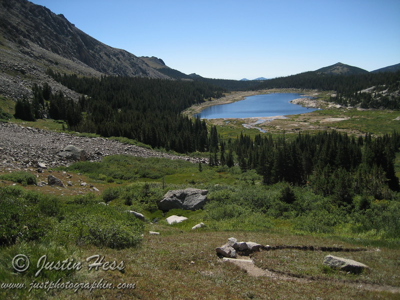Above Lawn Lake, on the way to The Saddle.