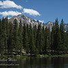 The view of Longs Peak from Nymph Lake - Rocky Mountain National Park.