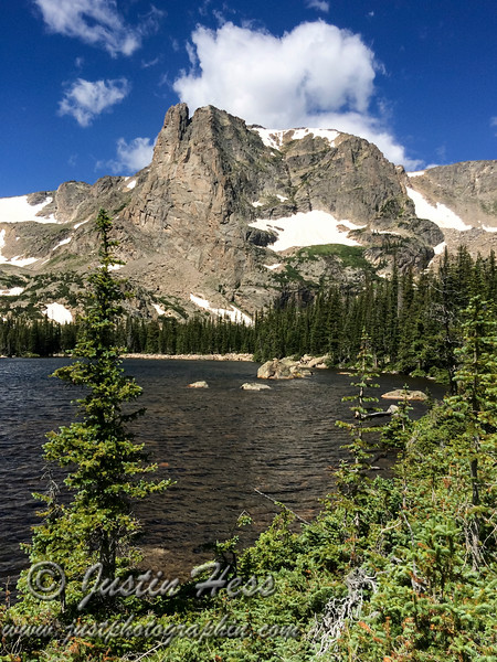A view of Notch Top from Two Rivers Lake.