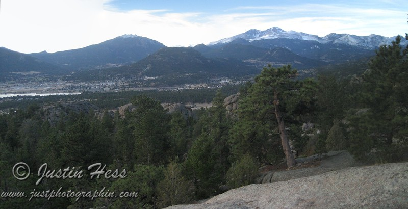 Panorama of the Estes Valley.