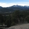 The view of the Estes Valley, Twin Sisters, Meeker, Longs Peak on the way to Gem Lake.