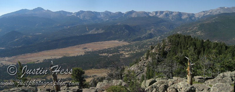 Panorama view from the top of Deer Mountain.