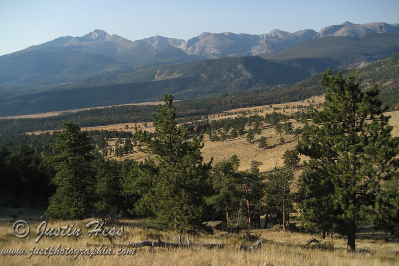 Looking out to Beaver Meadows and the Continental Divide from the Deer Mountain Trail.
