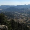 Panorama view looking toward Estes Park, from the top of Deer Mountain.