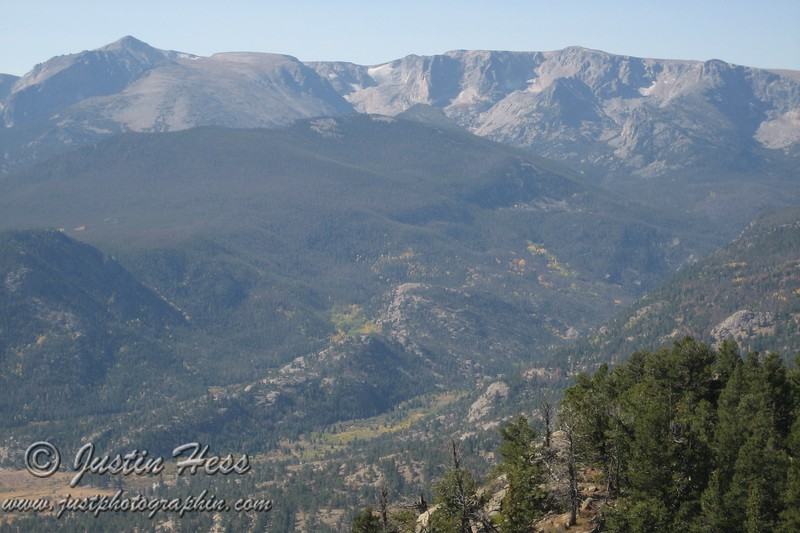 View into Forest Canyon and the Continental Divide from the top of Deer Mountain.