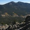 Panorama of Twin Sisters from the summit of Estes Cone.