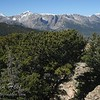 The view of the Continental Divide on the way back down from the summit of Estes Cone.