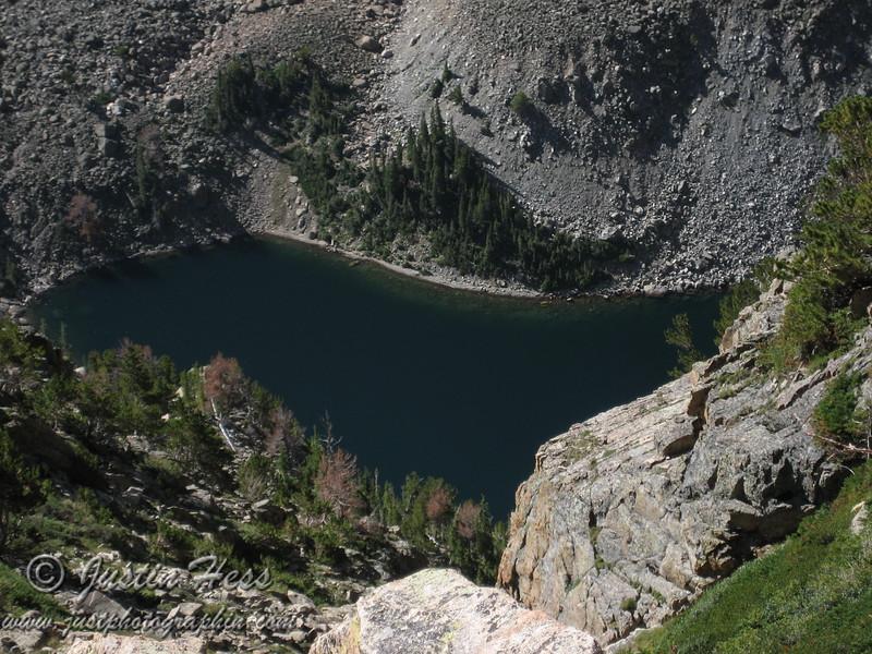 Birds-eye-view of Emerald Lake.