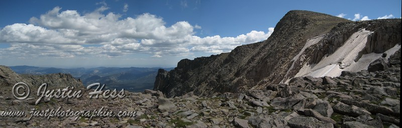 Panorama from the top of Flattop.
