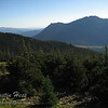 This is a view from just above tree line.  Twin Sisters is across the valley.