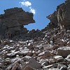 Making my way back through the Boulder Field on the way down.