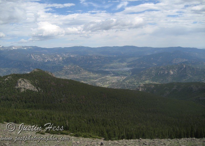 Another view of the Estes Valley from the Twin Sisters Trail