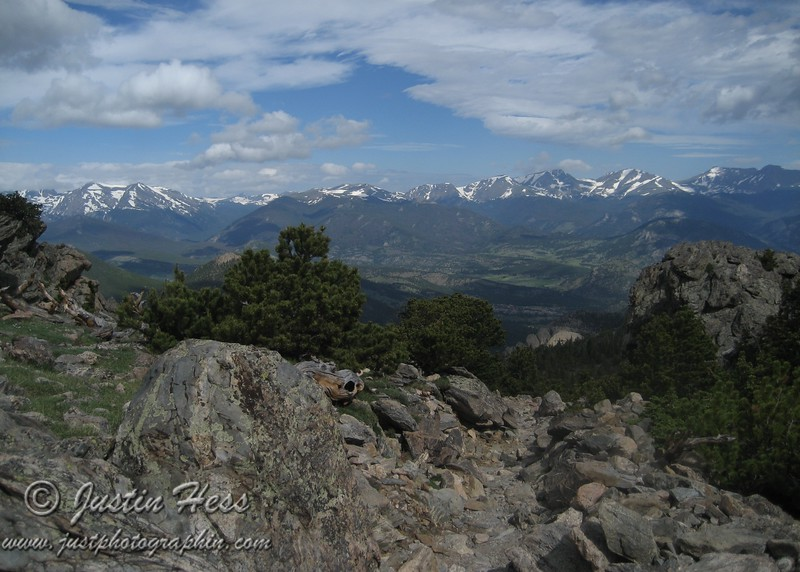 The Mummy Range viewed from the Twin Sisters Trail.