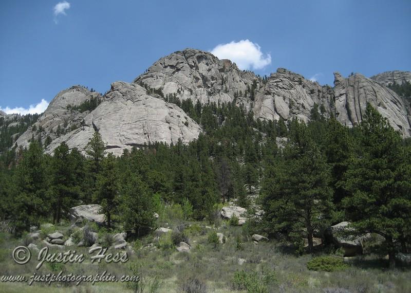 "Lumpy Ridge.  ""The Pear"" on the left."