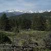 This a view from MacGregor Ranch of Meeker, Longs Peak, and the Continental Divide.