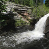A 12 exposure panorama stitch of West Creek Falls.