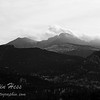 Meeker and Longs Peak viewed from the Stanley Hotel.  1-8-2013