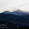 Meeker and Longs Peak viewed from the Stanley Hotel.  1-8-2013