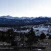 The view of the Continental Divide from the Upper Beaver Meadows overlook, just down from Deer Ridge Junction.  1-16-2013.