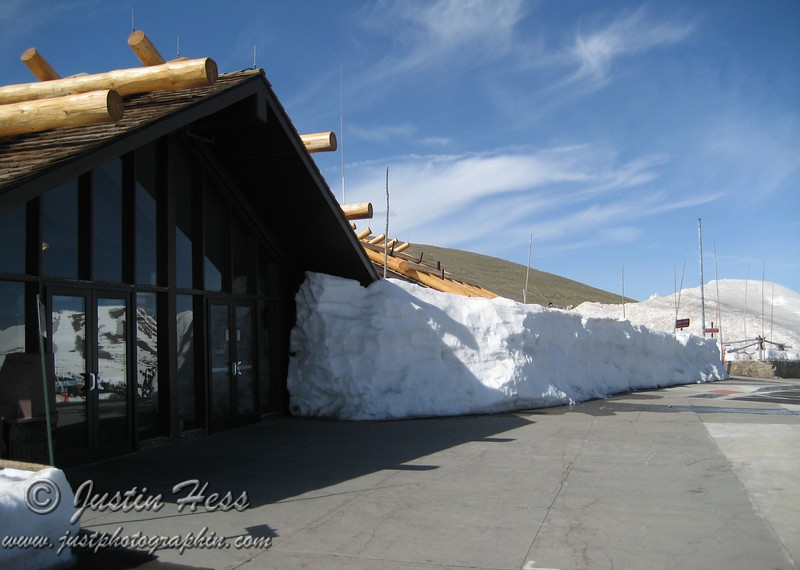 The Alpine Visitor Center still with a decent amount of snow even in June.