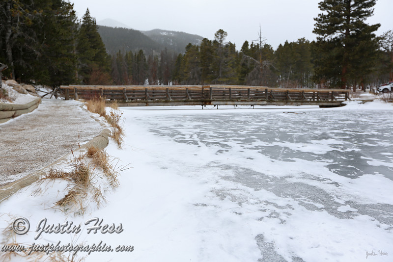 The small inlet pond to Sprague Lake in Rocky Mountain National Park.