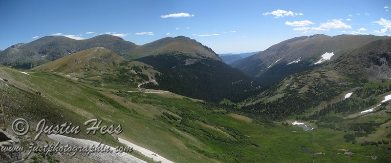 Panorama view from the Alpine Visitor Center.