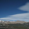 A lenticular cloud forming over the Mummy Range as viewed from Rainbow Curve.