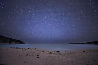 Starry sky at Sand Beach