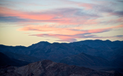 Cloud patterns at sunset, on approach to Death Valley