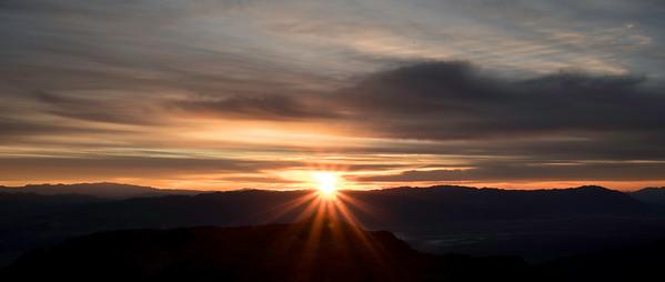 Sunburst over Death Valley NP, CA