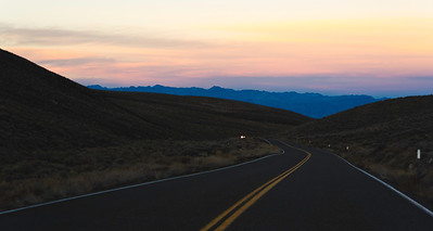 Entering Death Valley as sun goes down