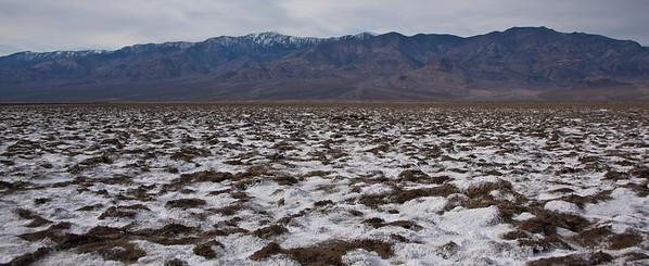 Golf grounds Salt Flats, Death Valley