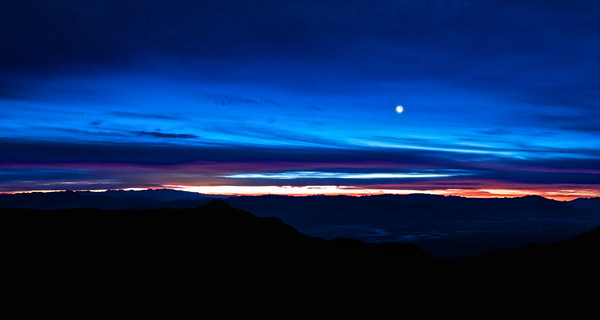 Moonset over Death Valley, CA