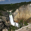 Lower Falls of the Yellowstone from the South Rim Trail