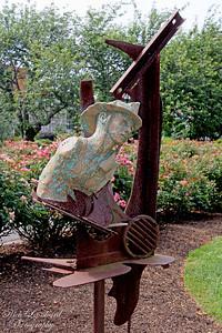 Firefighter 9-11-01 memorial at Adelphi University.