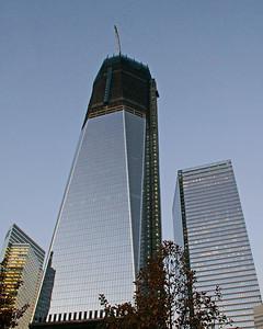 Freedom Tower at ground zero under construction.